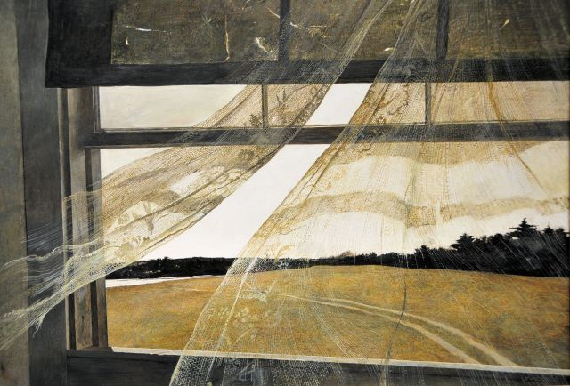 Painting: Wind from the Sea, Andrew Wyeth. 1947. (Learn more.)