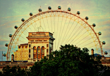 "London Eye by Mary Pierce From Mary's flash fiction piece: ""Until a tiny thing trips you up"""