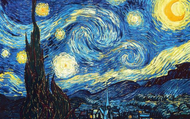 The Starry Night, Vincent van Gogh, 1889. (public domain)