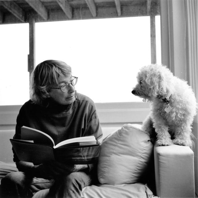 Mary Oliver and Percy. (Photo © 2005 by Rachel Giese Brown.)
