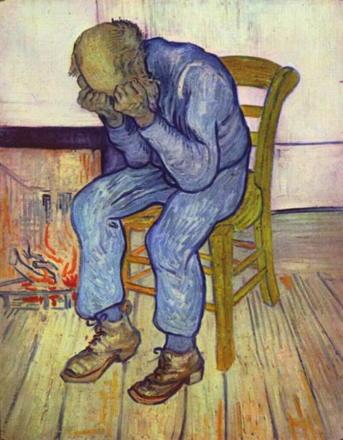 "Sorrowing old man (""At Eternity's Gate""), Vincent van Gogh (1853-1890). via WikiCommons"